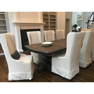 Safavieh En Vogue Dining Deco Bacall Ivory Slip Cover Dining Chair   Free  Shipping Today   Overstock.com   13835100