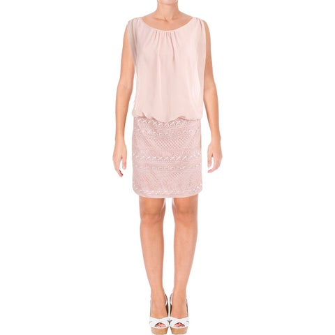 Aidan by Aidan Mattox Womens Cocktail Dress Blouson Lace Skirt