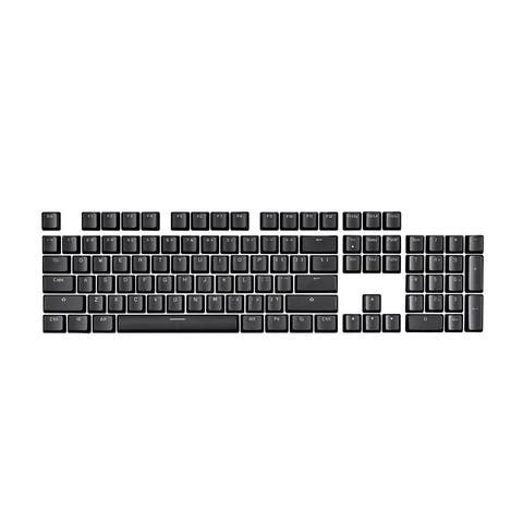 Monoprice Double Shot Keycaps - 104-Key Set - Black, Compatible With Monoprice Workstream Mechanical Keyboards
