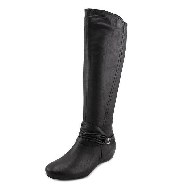 Baretraps Sapphire Women Round Toe Canvas Black Knee High Boot