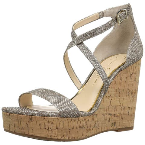 48946cdd3bdf Jessica Simpson Womens Stassi Open Toe Special Occasion Ankle Strap Sandals