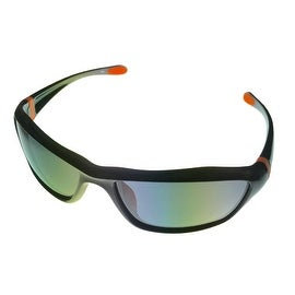 Timberland Sunglass Mens Black Solid Smoke Polarized Len Plastic Wrap TB7059 5D
