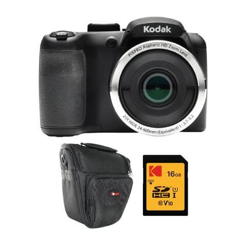 Kodak PIXPRO AZ252 Astro Zoom 16MP Digital Camera w/ 16GB Card Bundle