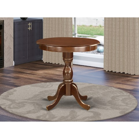 East West Furniture Modern Dining Table Feature Round Table Top and Pedestal Legs (Color Option)