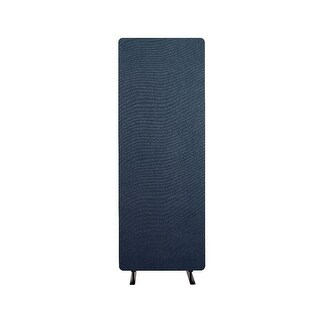 Offex Reclaim Acoustic Fabric Single Panel Room Divider In Starlight Blue