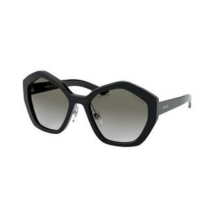 Link to Prada PR 08XS 1AB0A7 55 Black Woman Irregular Sunglasses Similar Items in Women's Sunglasses