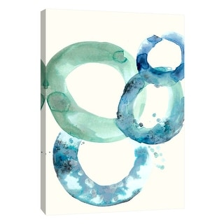 """PTM Images 9-105532  PTM Canvas Collection 10"""" x 8"""" - """"Watercolor Oval 5"""" Giclee Abstract Art Print on Canvas"""