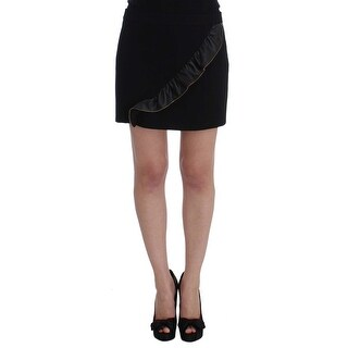 Frankie Morello Frankie Morello Black Mini Pencil Skirt - it42-m