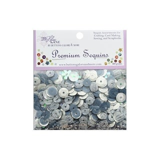 Buttons Galore LL Premium Sequins Silver Lining