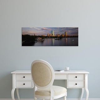 Easy Art Prints Panoramic Image 'View of sailboats in a river, Back Bay, Boston, Massachusetts, USA' Canvas Art