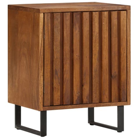 "vidaXL Bedside Cabinet 15.7""x11.8""x19.6"" Solid Mango Wood"
