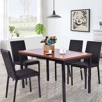 Stack Wood 5 Piece Mid Century Style Dining Chairs And
