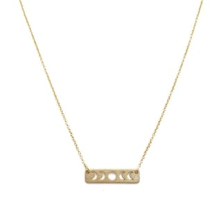 HONEYCAT Mini Moons Phase Necklace (Delicate Jewelry)