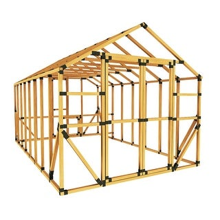 E-Z Frame 10X16 Standard Chicken Coop & Run Kit - Black