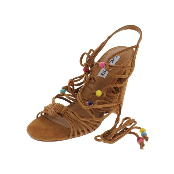 Steve Madden Womens Scenes Dress Sandals Open Toe Strappy