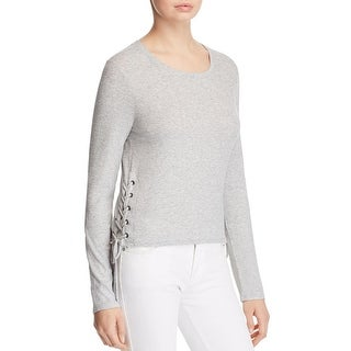 Splendid Womens Tunic Top Lace Up Ribbed