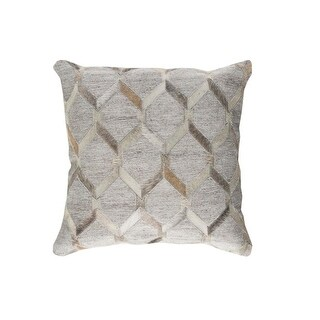 20 Gray and Eggshell White Rustic Animal Patterned Decorative Throw Pillow-Down Filler