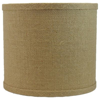Classic Burlap Drum Lampshade, 8-inch to 16-inch Bottom Size Available