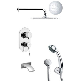Remer by Nameeks TSH4122 Tyga Shower Tub and Shower Trim Package with Single Fun