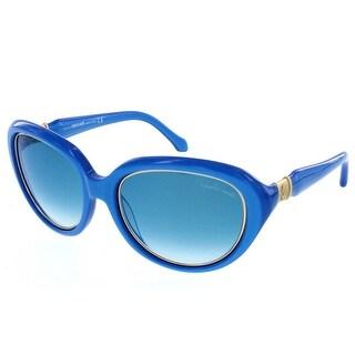 Roberto Cavalli RC 781S/S 87W ACQUA Electric Blue Oval Sunglasses