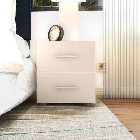 Porch & Den Angus Foiled 2-Drawer Nightstand
