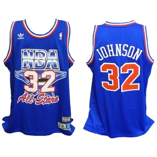 Magic Johnson 1992 All Star Game Official Adidas Blue Throwback Swingman Premier Jersey Size XL