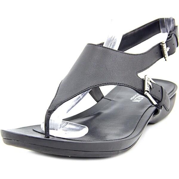 f5087f033fac4 Shop Lauren Ralph Lauren Kasia Women Open Toe Leather Black Thong ...