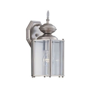 """Designers Fountain 1101-PW 1 Light 7"""" Wall Lantern with Clear Beveled Glass"""