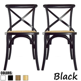 Link to 2xhome Set of 2 Modern Contemporary Antique Farmhouse Decor Cross Back Wooden Frame Dining Chairs Wood Accent with Side Similar Items in Dining Room & Bar Furniture