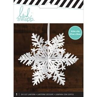 Heidi Swapp Snowflake Paper Lantern-White/Small