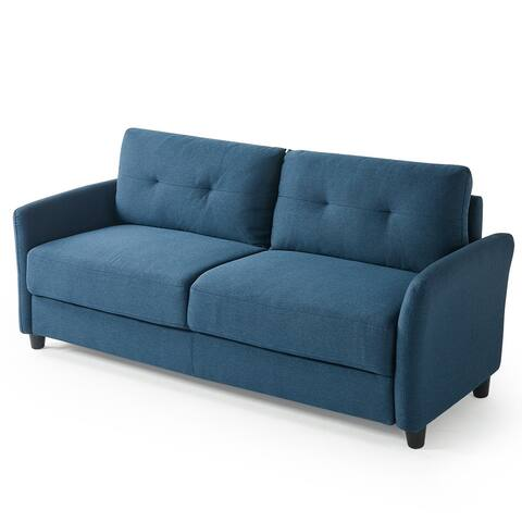 Praige by ZINUS Lyon Blue Upholstered Sofa