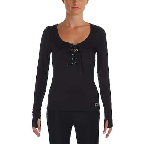 Bebe Womens Pullover Top Yoga Fitness