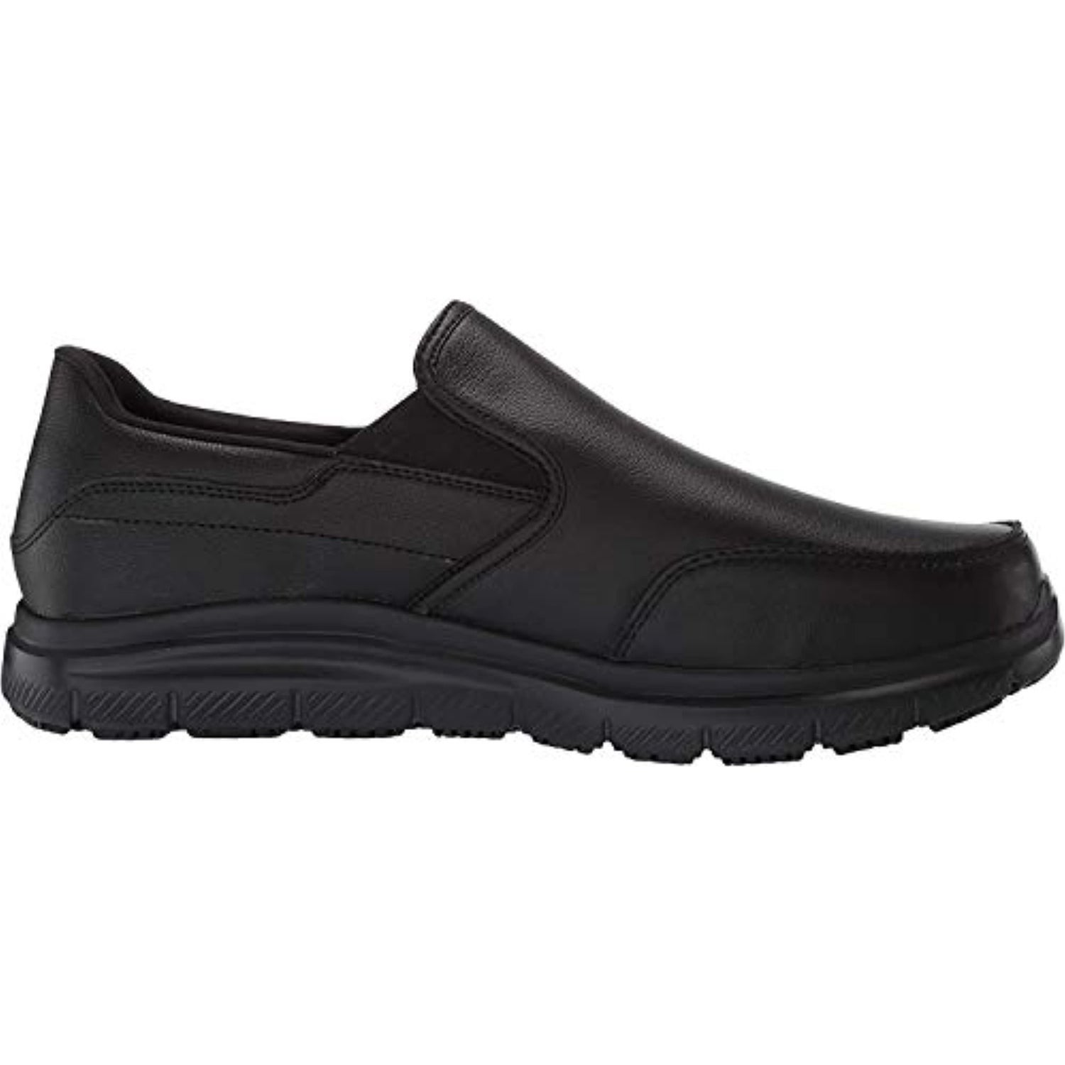 black leather slip on tennis shoes