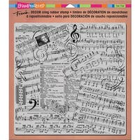 """Stampendous Decor Cling Stamp 10""""X8.75""""-Music"""