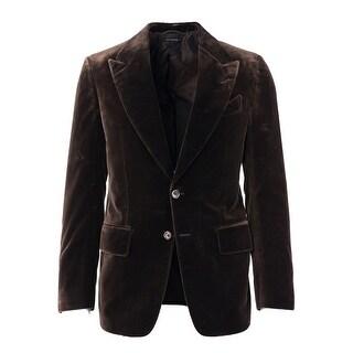 Tom Ford Brown Light Velvet TF Icon Shelton Jacket