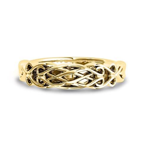 Auriya 14k Gold Braided Wedding Band