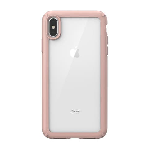 Speck Presidio Show Designed for Impact Case iPhone Xs Max - Clear/Rose Gold - Pink