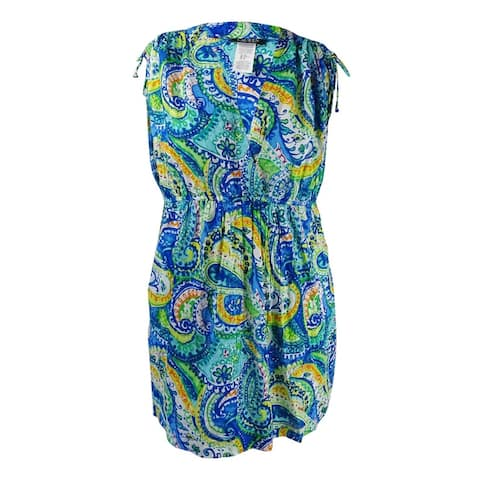 Lauren Ralph Lauren Women's Plus Carnivale Printed Farrah Dress - Blue