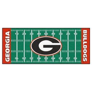 NCAA University of Georgia Bulldogs Football Field Runner Mat Area Rug