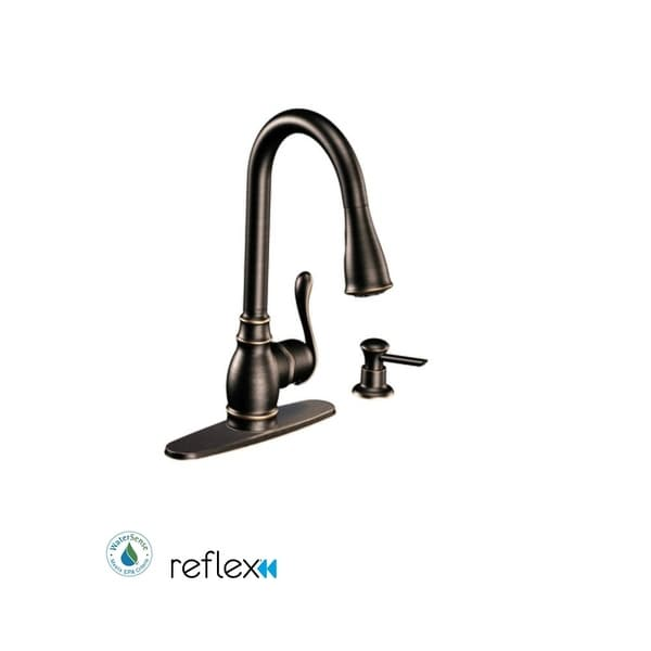 Shop Moen Ca87003 Single Handle Kitchen Faucet With Pullout Spray