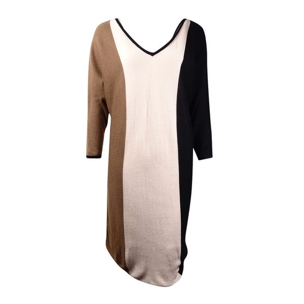 bb18fb8e47 Shop Trina Turk Women s  Emil  Colorblock Wool Blend Sweater Dress ...