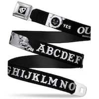 Ouija Planchette Full Color Black White Ouija Board Elements2 Black White Seatbelt Belt