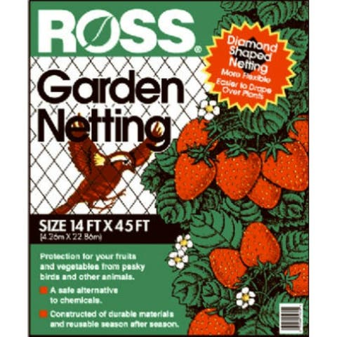 "RossA 15720 Garden Netting, 3/4"" Diamond Black Mesh, 14' x 45'"