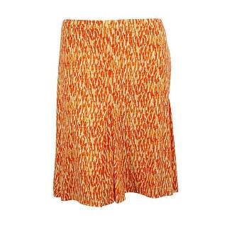 Michael Kors Women's Jersey A-Line Skirt (1X, Clementine) - Clementine - 1X