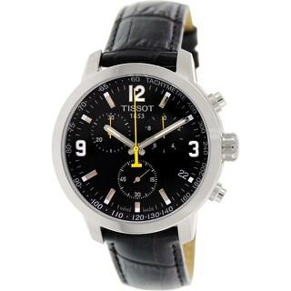 Tissot Men's Prc 200 T055.417.16.057.00 Black Leather Dress Watch
