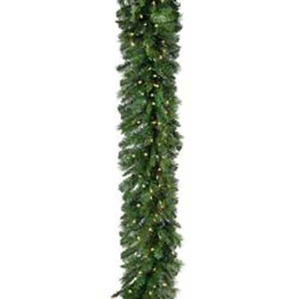 "14"" Dia. - Pre-Lit New Zealand Pine Garland 14"" Dia 320 Tips; 150 Light"