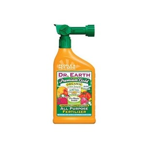 Dr. Earth 1019 Premium Gold All Purpose Fertilizer, 32 Oz