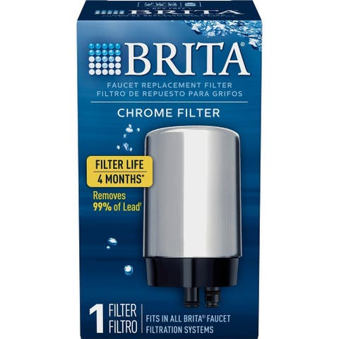 Brita 36310 On Tap Water Filtration System Replacement Faucet Filter, Chrome