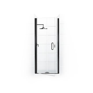 """Coastal Shower Doors PCQFR24.83-C  Paragon Series 24"""" x 82"""" Semi-Frameless Continuous Hinge Shower Door and Clear Glass with"""