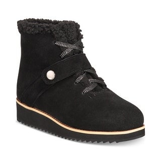 Link to Style & Co. Womens Elissaa Leather Closed Toe Ankle Cold Weather Boots Similar Items in Women's Shoes